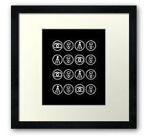 Camera kit icons Framed Print