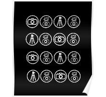 Camera kit icons Poster