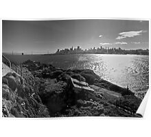 View of San Francisco from Alcatraz Island Poster