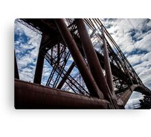 Looking up the side of the Rail Bridge Canvas Print
