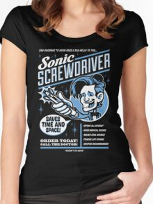 Sonic Screwdriver Ad Women's Fitted Scoop T-Shirt
