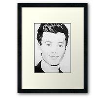 Chris Colfer drawing Framed Print