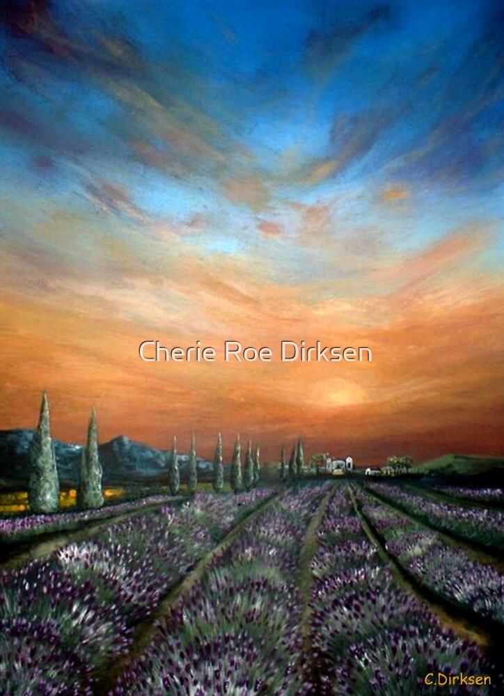 Lavender Field Sunset by Cherie Roe Dirksen