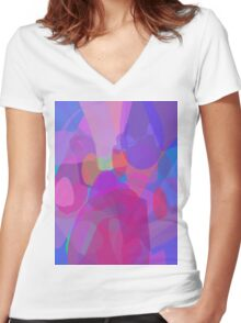 Four Kinds of Power Women's Fitted V-Neck T-Shirt