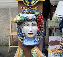 Ceramic Face by Francis Drake