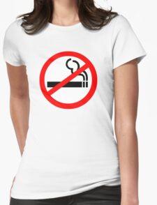 No Smoking Symbol Womens Fitted T-Shirt