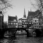 Amsterdam - Canals, Houses &amp; Bridges - B&amp;W by rsangsterkelly