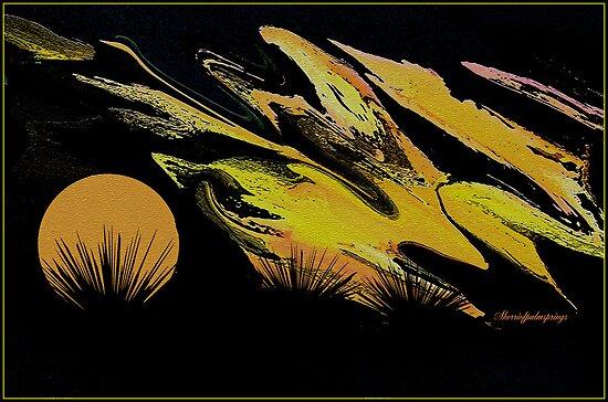 ABSTRACT-CALIFORNIA SUNSET by Sherri     Nicholas