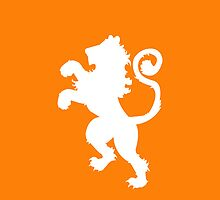 Dutch Lion Reverse Color by Joey Kuipers