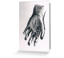 Reach- A Hand in Charcoal Greeting Card