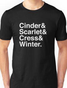 Cinder & Scarlet & Cress & Winter. (inverse) Unisex T-Shirt