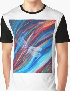 Purple Dragonfly Graphic T-Shirt