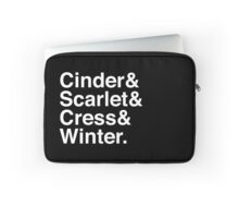 Cinder & Scarlet & Cress & Winter. (inverse) Laptop Sleeve