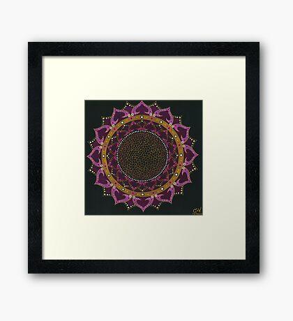 Black Cherry Mandala Framed Print