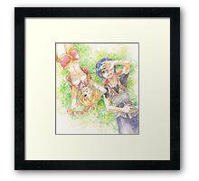 Chrono Cross: Serge and Kidd Framed Print