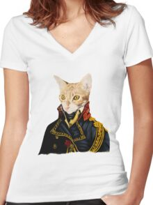 The Baron Women's Fitted V-Neck T-Shirt