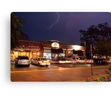 Riverside 5-Points Lightning Canvas Print