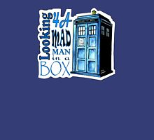 Looking 4A Mad Man In A Box -2 Womens Fitted T-Shirt