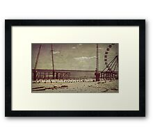 Seaside Heights After Sandy Framed Print