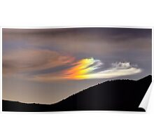 Sun Dog over Dog Skin Mountain Poster