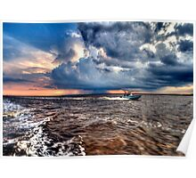 Sunset at Jekyll Island Poster