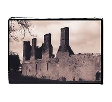 Irish Ruin on the Grounds of Modern Hotel Photographic Print