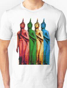 Colored Thai Buddha  T-Shirt