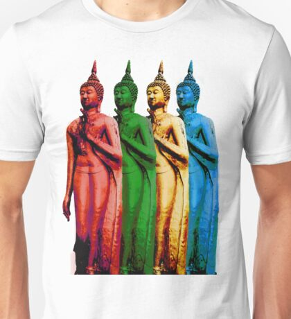Colored Thai Buddha  Unisex T-Shirt