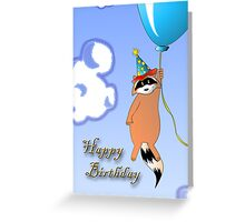 Clown Raccoon with Balloon Greeting Card