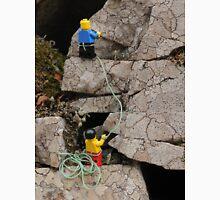 Lego Men Climbing on Lichen Encrusted Rocks Unisex T-Shirt
