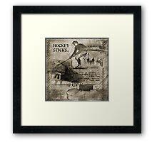 Vintage Hockey Framed Print