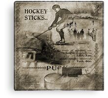 Vintage Hockey Canvas Print