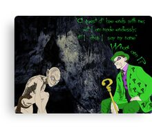 Riddle Me This Canvas Print