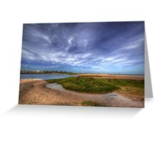 Sand Bar Beach  Greeting Card