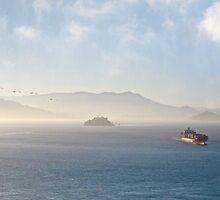 Ship on the Bay by David Denny