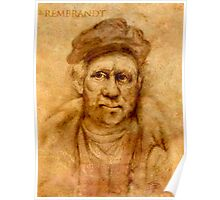 Rembrandt from his self portrait Poster