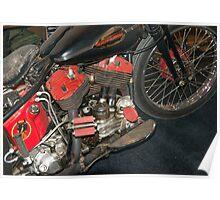 Old Harley Davidson Poster