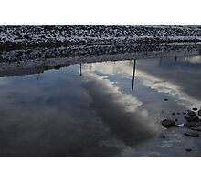 Reflection of Clouds on City River Photographic Print