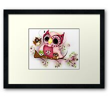 Under Her Wings - Mothers Day Owl Art Framed Print