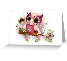 Under Her Wings - Mothers Day Owl Art Greeting Card