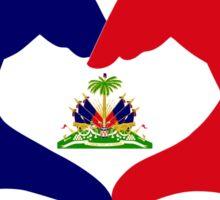 I Heart Haiti Patriot Flag Series Sticker