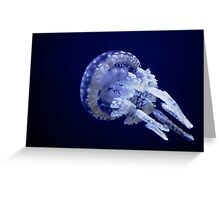 White spotted jellyfish Greeting Card