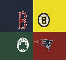 Boston Sports Lovah  by Kelly Betts