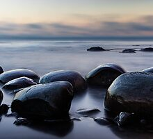 Mist and Rocks by Jon Yager