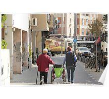 Grandma and her sist are Walking n rolling Poster