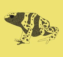Yellow Banded Poison Dart Frog One Piece - Short Sleeve
