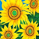 Sunflowers for Hailey by Barbara  Strand