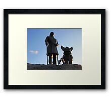 A little viking in all of us. Framed Print