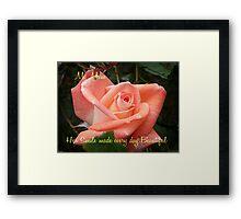 Violet Carson - Mother's Day Card Framed Print