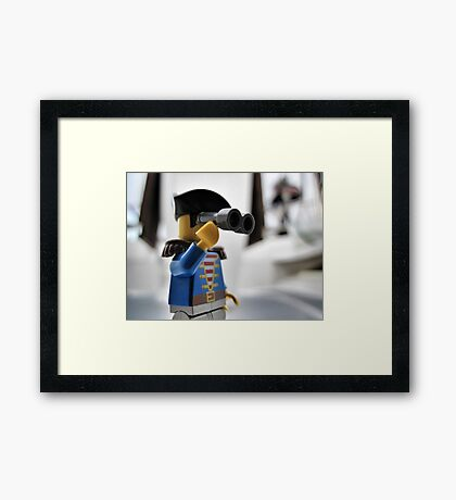 Pirate Practice: Lookout Framed Print